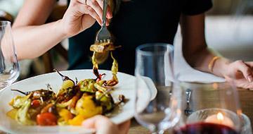 vegan meal in restaurant